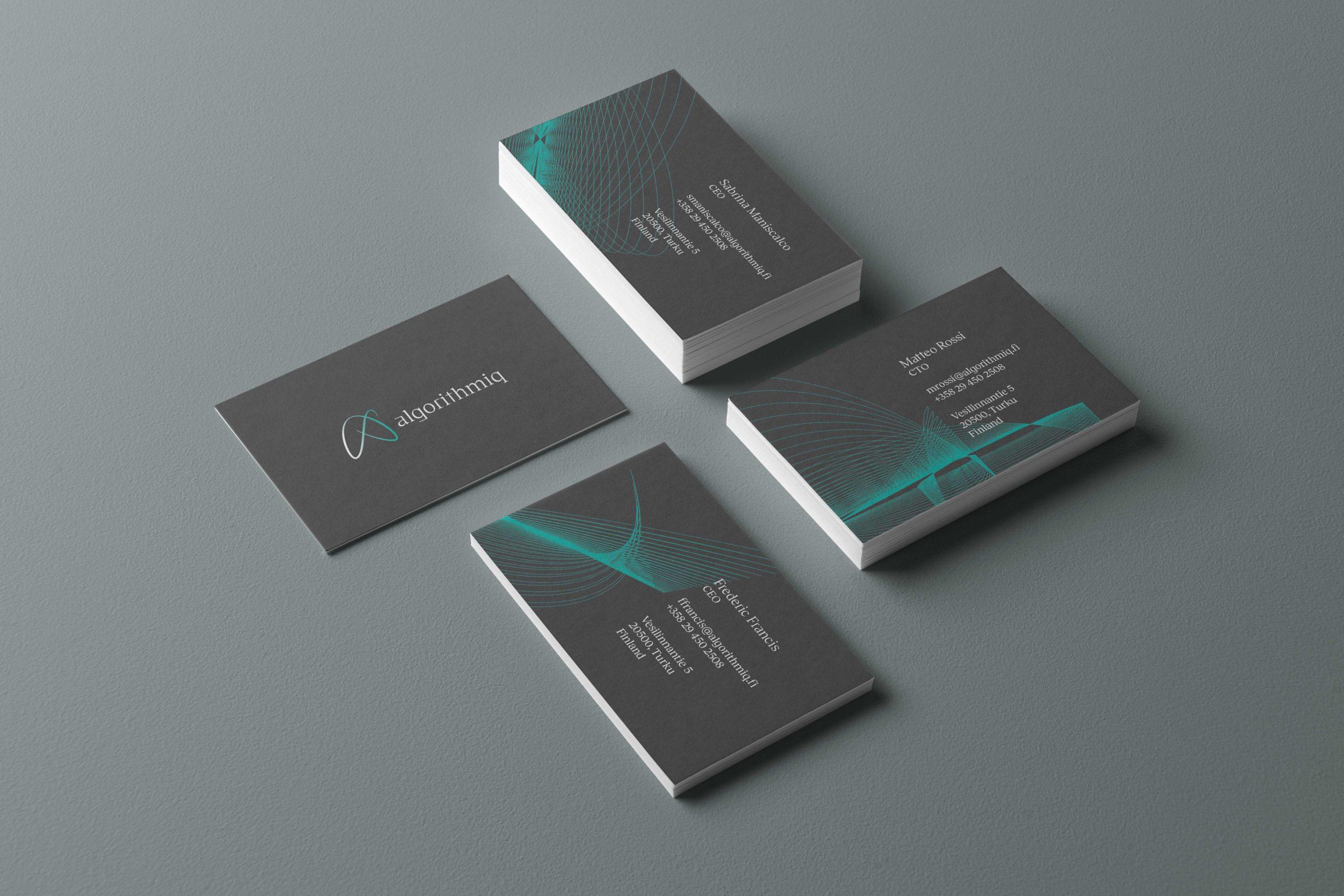 Business-Cards-Algorithmiq-design-quantum-technology-startup