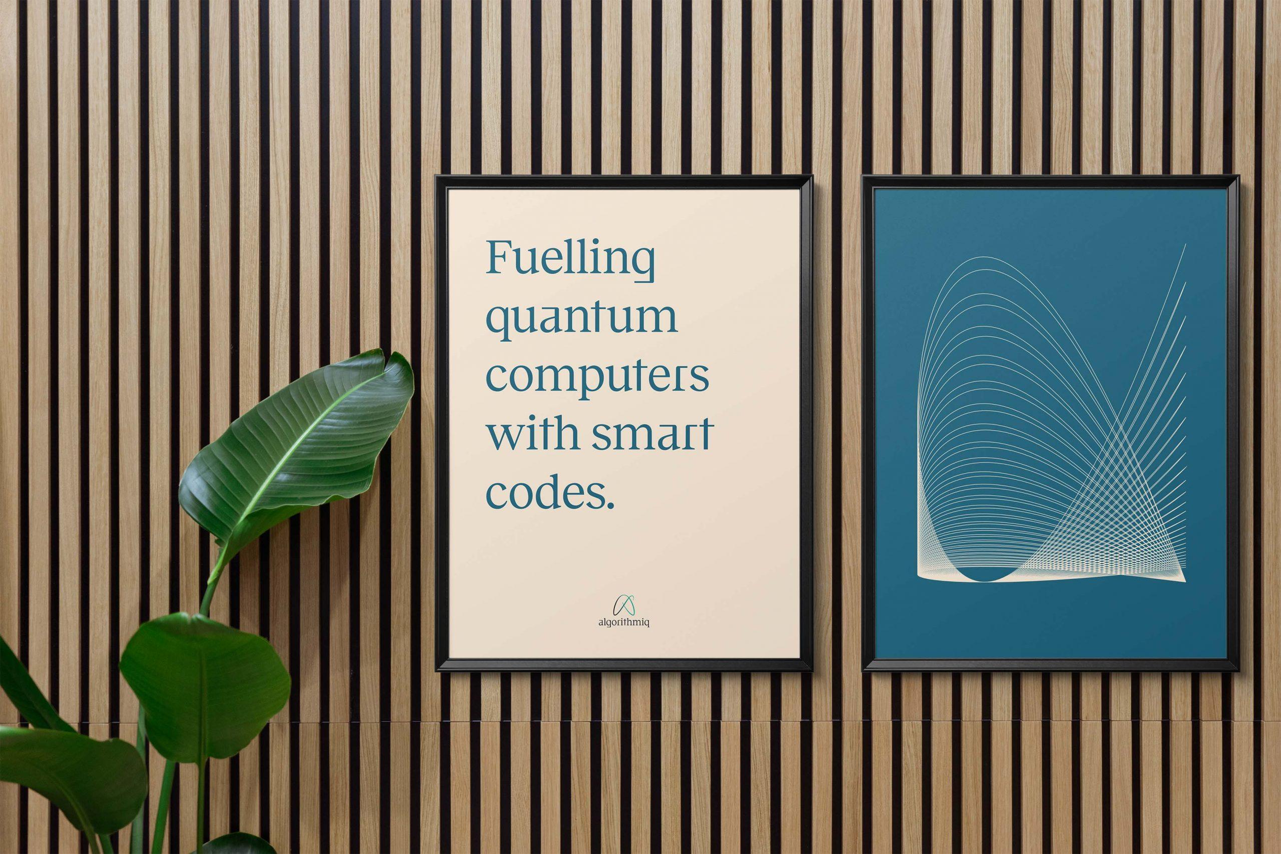 Framed-Posters_Algorithmiq-design-quantum-technology-startup